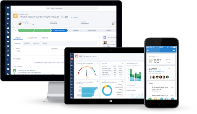 Salesforce Lightning screen